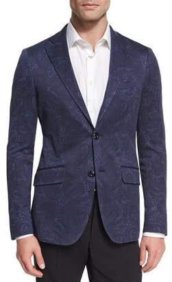 Etro Paisley Cotton Sport Coat, Navy $1,495 thestylecure.com