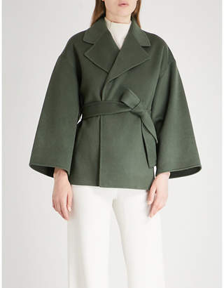 Theory Cropped wool and cashmere-blend coat
