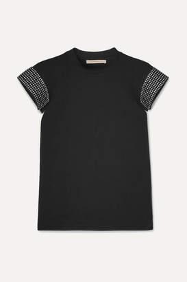 Christopher Kane Crystal-embellished Cotton-jersey T-shirt - Black