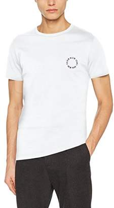 Calvin Klein Jeans Men's Bron 4 Slim Cn Tee Ss T-Shirt, (Bright White 112), X-Large