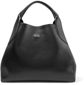 Lanvin - Cabas Leather Tote - Black $1,910 thestylecure.com