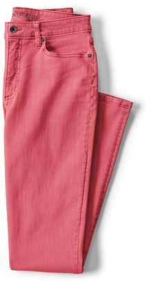 Lands' End Pink Petite Mid Rise Slim Leg Jeans