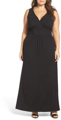 Loveappella Surplice Maxi Dress