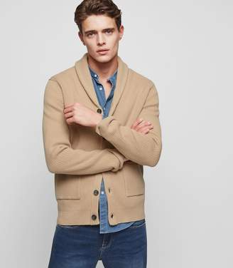 Reiss ORDER BY MIDNIGHT DEC 15TH FOR CHRISTMAS DELIVERY MONTREAL SHAWL-COLLAR CARDIGAN Oatmeal