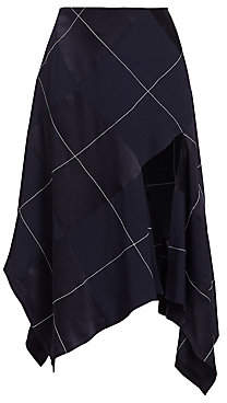 Monse Women's Asymmetric Argyle Midi Skirt - Size 0