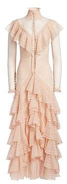 Alexander McQueen Women's Long Sleeve Ruffle Dress