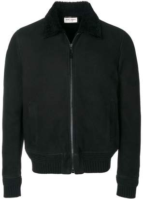 Saint Laurent shearling collar aviator jacket