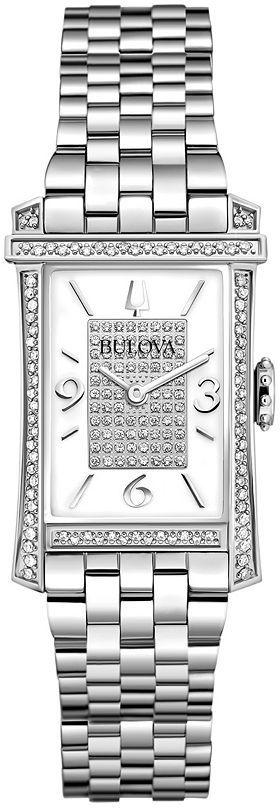 Bulova watch - women's diamond gallery winslow stainless steel - 96r188