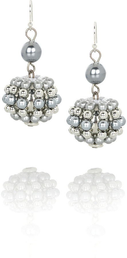 Lee Angel Serena pearl drop earrings