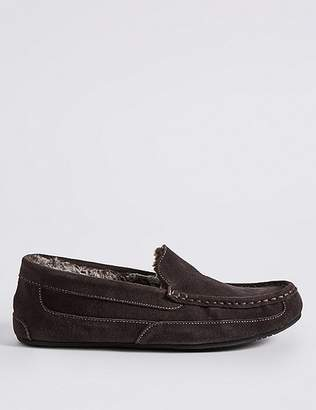 Marks and Spencer Big & Tall Suede Slippers with ThinsulateTM