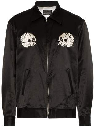Wacko Maria Skull cotton-blend bomber jacket