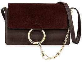 Chloé Faye Small Suede/Leather Shoulder Bag