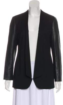 Robert Rodriguez Leather Trimmed Blazer