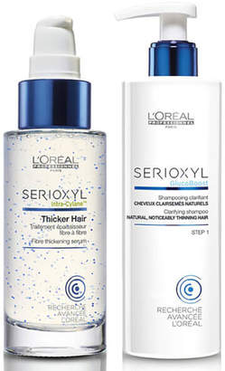 L'Oreal Serioxyl Thicker Hair Treatment and Shampoo for Natural Thinning Hair