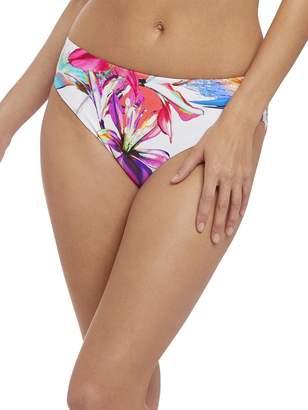 Fantasie Paradise Bay Mid-Rise Bikini Bottom, XL, Floral