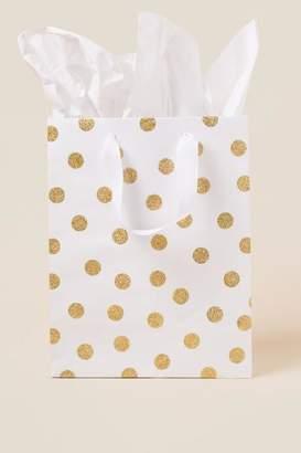 Gold Polka Dot Medium Gift Bag