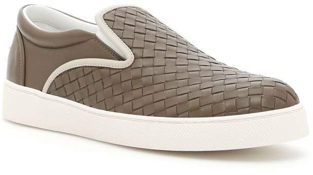 Bottega Veneta Woven Nappa Sneakers