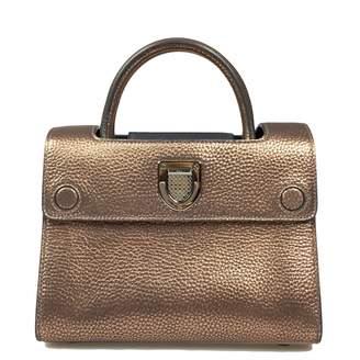 Christian Dior Diorever Metallic Leather Handbag