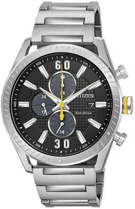 DRIVE FROM CITIZEN ECO-DRIVE Drive from Citizen Mens Silver Tone Bracelet Watch-Ca0660-54e