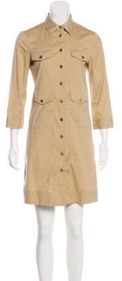 Tory Burch Long Sleeve Casual Shirtdress