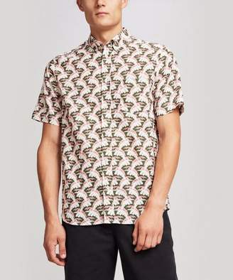 Liberty London Palm Tree Mens Linen Shirt