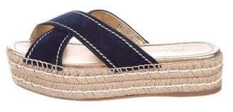 492a01876 Pre-Owned at TheRealReal · Prada Flatform Espadrille Slide Sandals