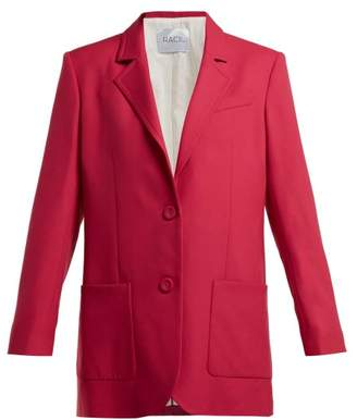 Racil Alfred Single Breasted Wool Blazer - Womens - Pink