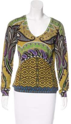 Etro Silk & Cashmere-Blend Sweater