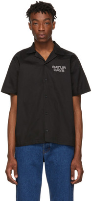 Saturdays NYC Black Canty Short Sleeve Shirt