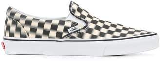 Vans classic blur check slip on sneakers