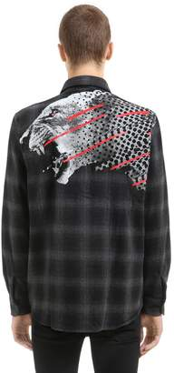 Marcelo Burlon County of Milan Sham Printed Cotton & Wool Flannel Shirt