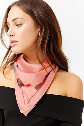 Forever 21 Colorblock Square Scarf