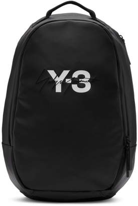Y-3 Y 3 Black Logo Backpack