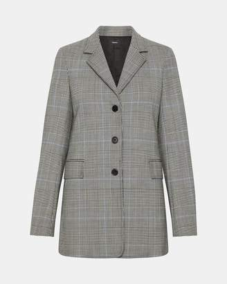 Theory Wool Plaid Cardinal Jacket