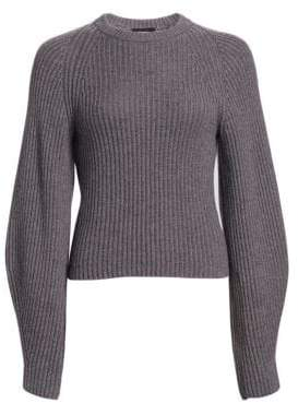 Theory Sculpted Sleeve Wool Pullover