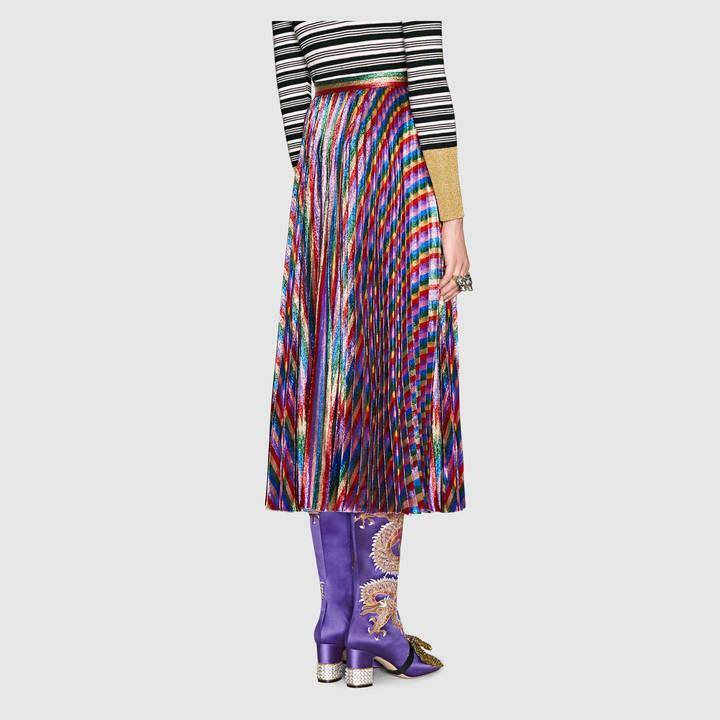 Iridescent pleated skirt 5