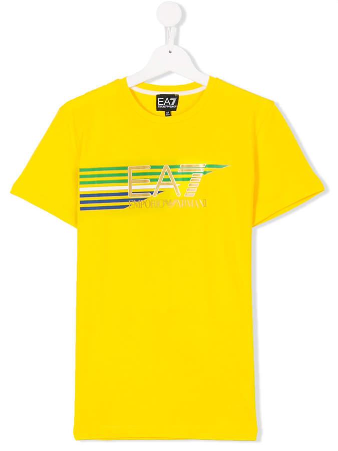 Ea7 Kids TEEN logo print T-shirt
