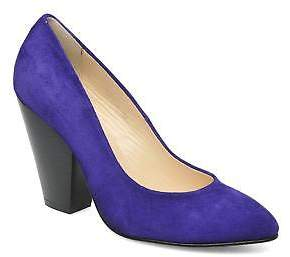 B Store Women's Bianca Pump Rounded Toe High Heels In Purple - Size Uk 5 / Eu 38
