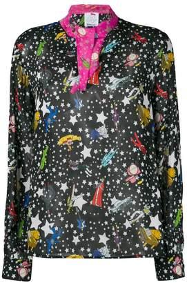 90cb00cc258b0 Black Star Print Blouse - ShopStyle UK