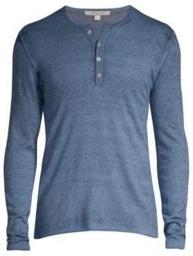 John Varvatos Silk& Cashmere Henley Shirt