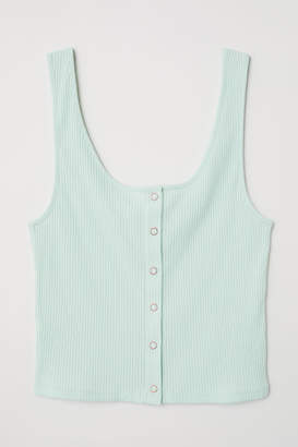 H&M Tank Top with Snap Fasteners - Green