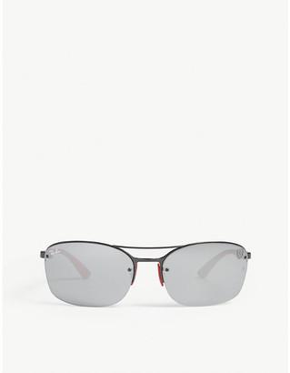 Ray-Ban RB3617 Scuderia Ferrari rectangle-frame sunglasses