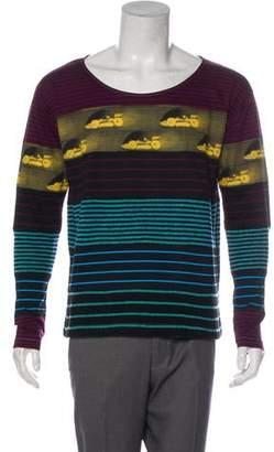 Prada Wool-Trimmed Striped Sweater