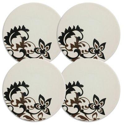 Mikasa Chocolate Swirl Coasters, Set of 4