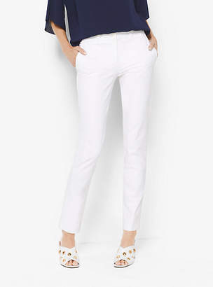 Michael Kors Samantha Stretch Cotton-Broadcloth Pants