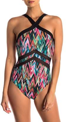 Miraclesuit High Frequency Halter Neckline One-Piece Swimsuit