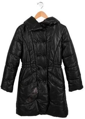 Catimini Girls' Hooded Puffer Coat