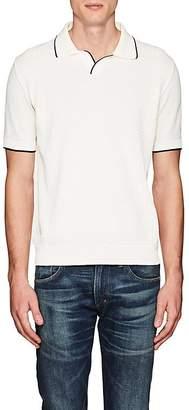 Barneys New York Men's Contrast-Tipped Cotton Polo Shirt