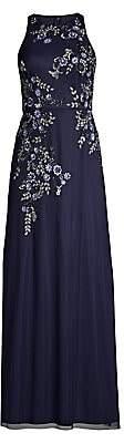 Aidan Mattox Women's Embroidered Floral Column Gown