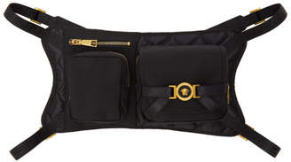 Versace Black Multi Pocket Crossbody Bag